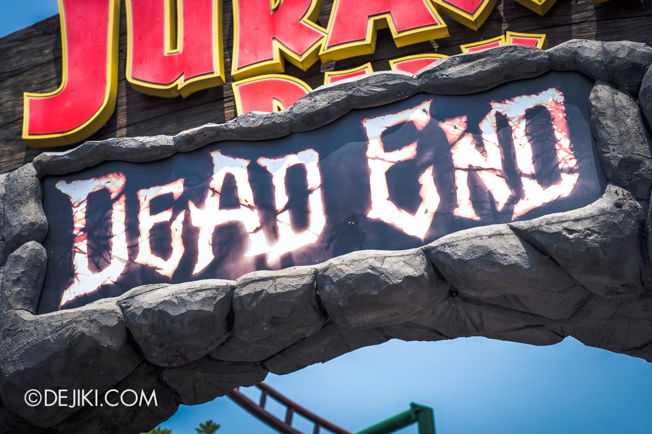 USS Halloween Horror Nights 9 construction update Dead End zone entrance arch detail