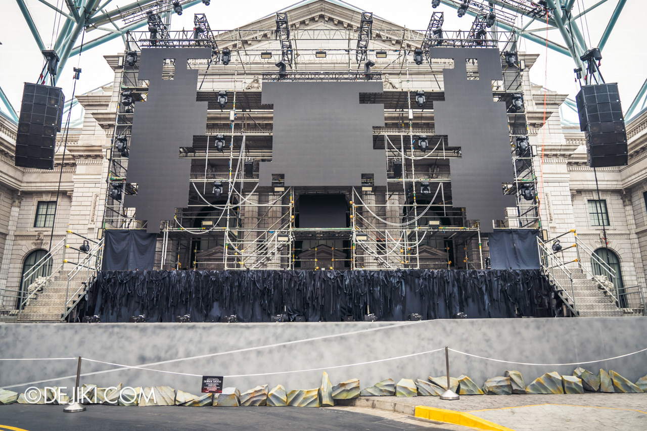USS Halloween Horror Nights 9 construction update Death Fest scare zone main stage construction