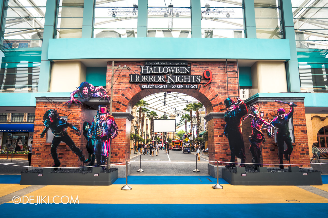 USS Halloween Horror Nights 9 construction update Park entrance icons 1