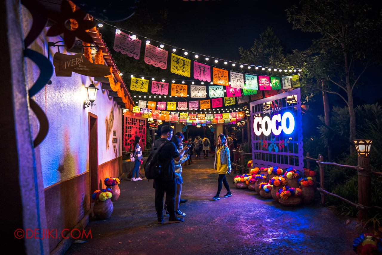 Shanghai Disneyland Halloween event Pixar Coco Decorations Santa Cecilia at Adventure Isle 3