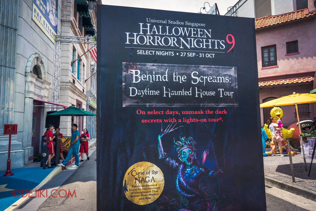 USS Halloween Horror Nights 9 Haunted House Tour Curse of The Naga 0 Daytime House Tour