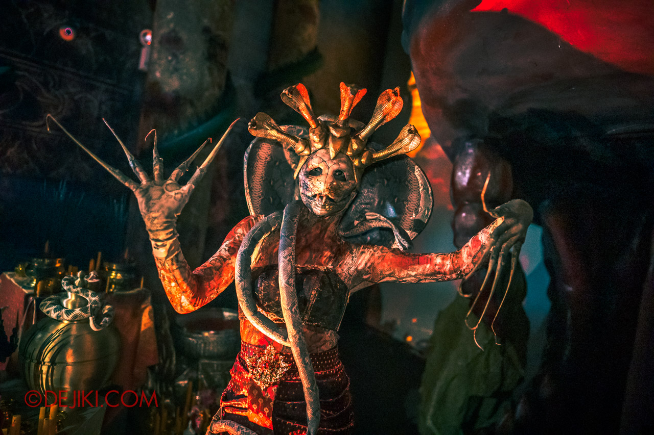 USS Halloween Horror Nights 9 Haunted House Tour Curse of The Naga 8 Cobra Serpentine Spirit