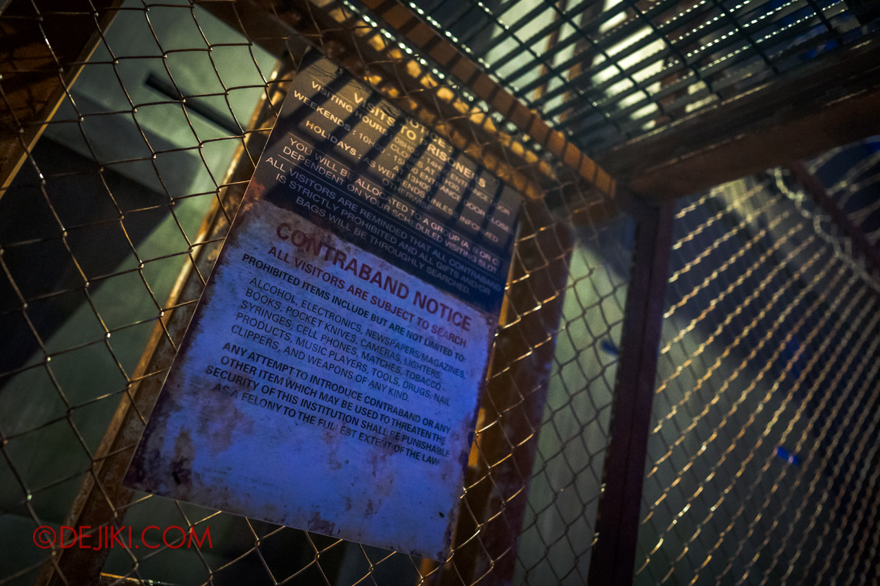 USS Halloween Horror Nights 9 Haunted House Tour Hell Block 9 0 Fence warning