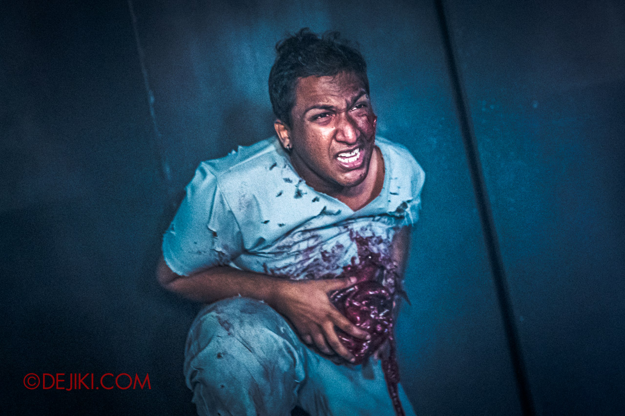 USS Halloween Horror Nights 9 Haunted House Tour Hell Block 9 4 Canteen injured