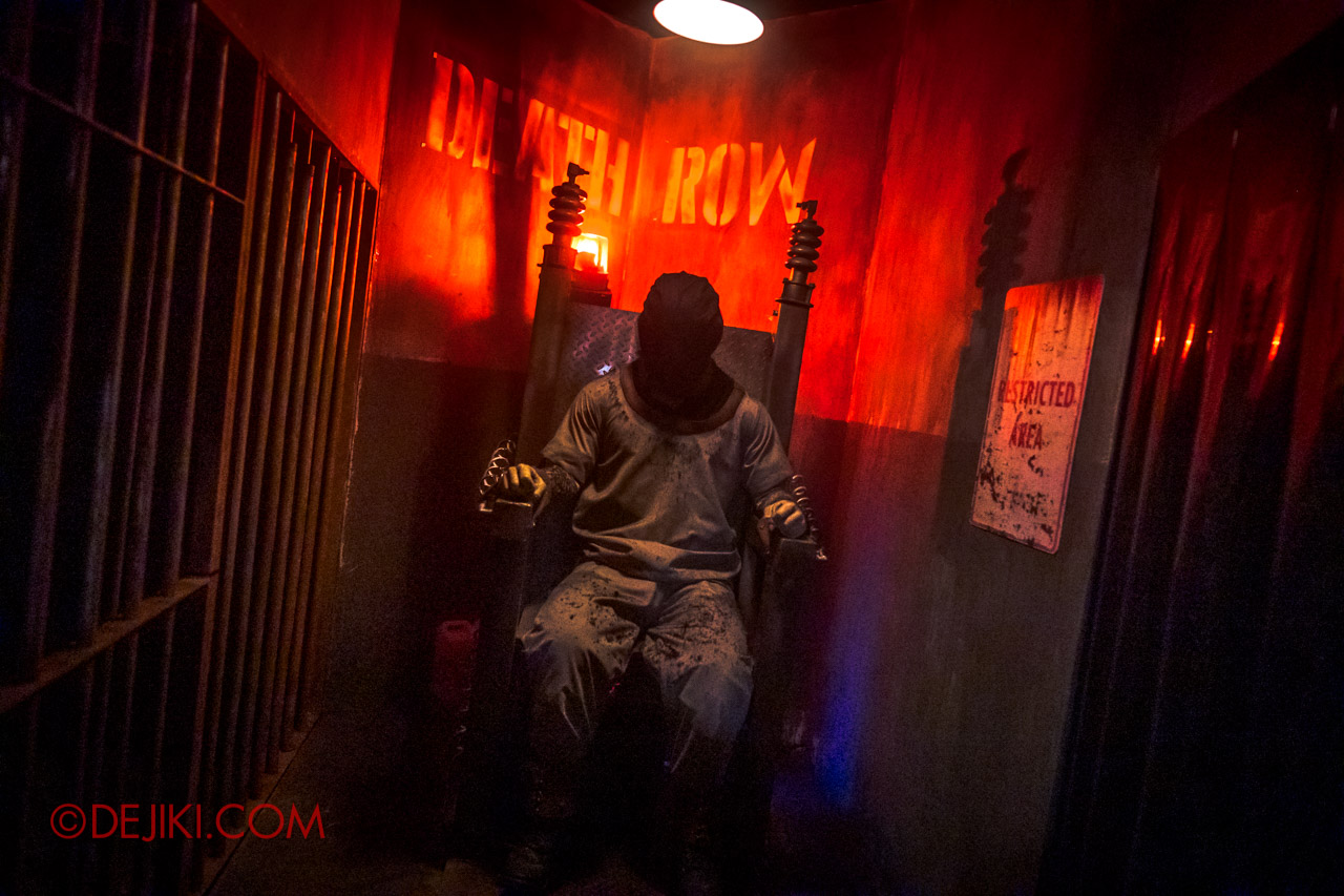 USS Halloween Horror Nights 9 Haunted House Tour Hell Block 9 8 Death Row Electric Chair