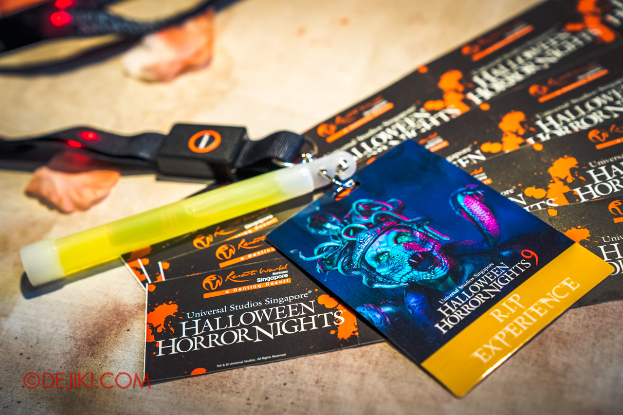 USS Halloween Horror Nights 9 RIP Experience Exclusive Lanyard and VIP Credential