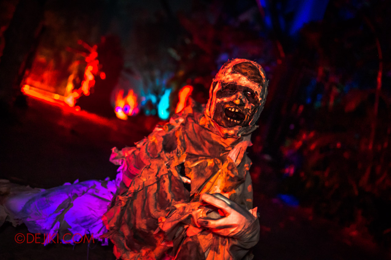 USS Halloween Horror Nights 9 photo tour Dead End scare zone 4 wandering mummy