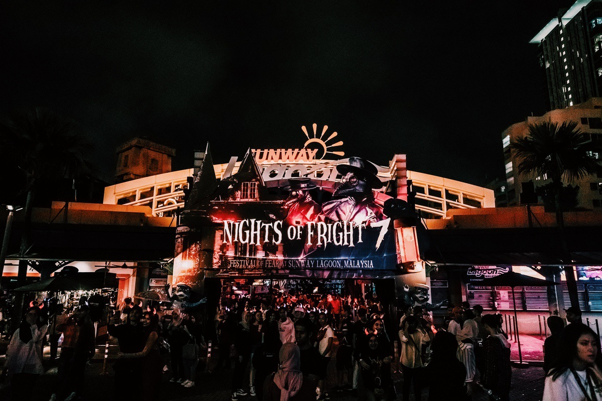 Sunway Lagoon Malaysia Nights of Fright 7 Park Entrance