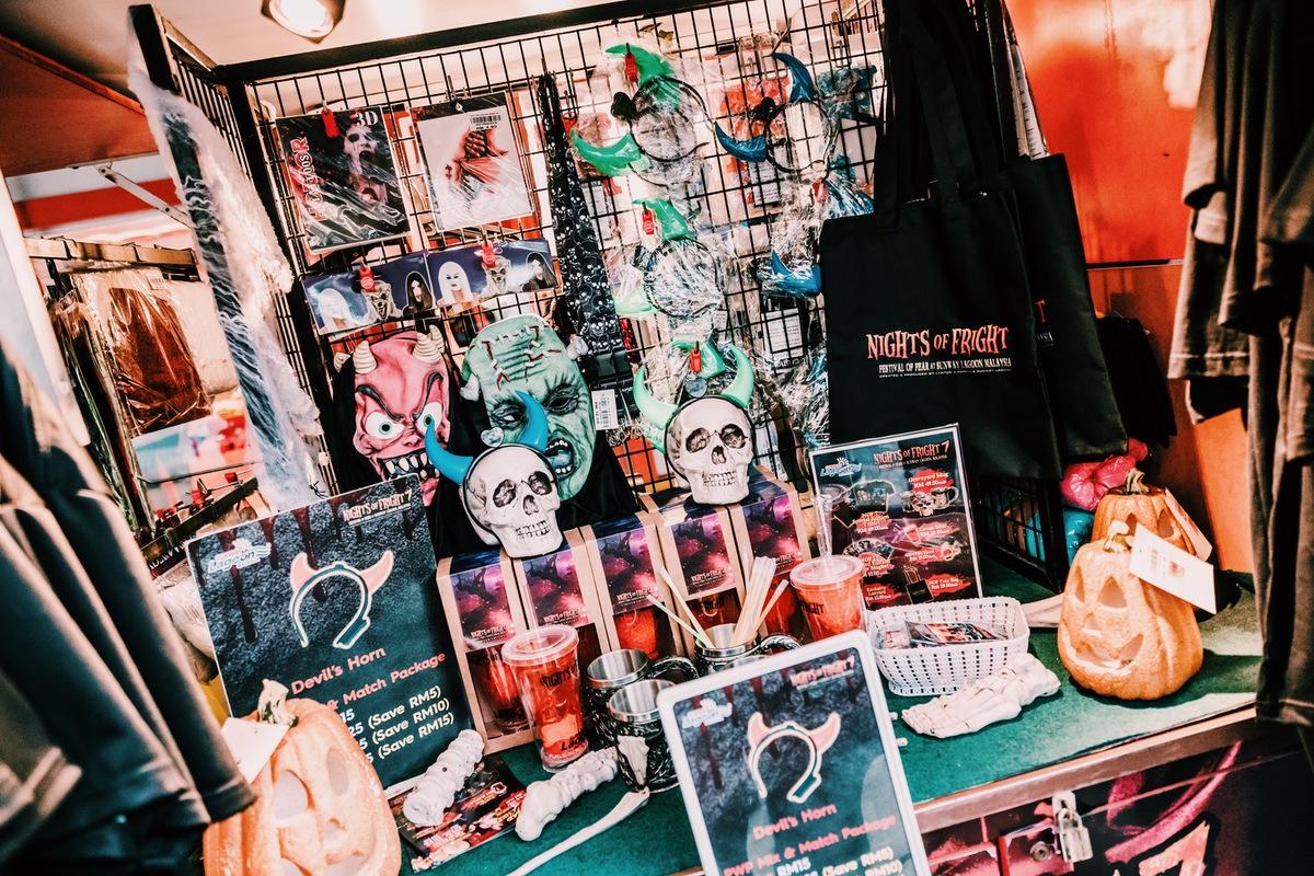 Sunway Lagoon Malaysia Nights of Fright 7 Pre Opening Stuff Merchandise NOF7 Stall