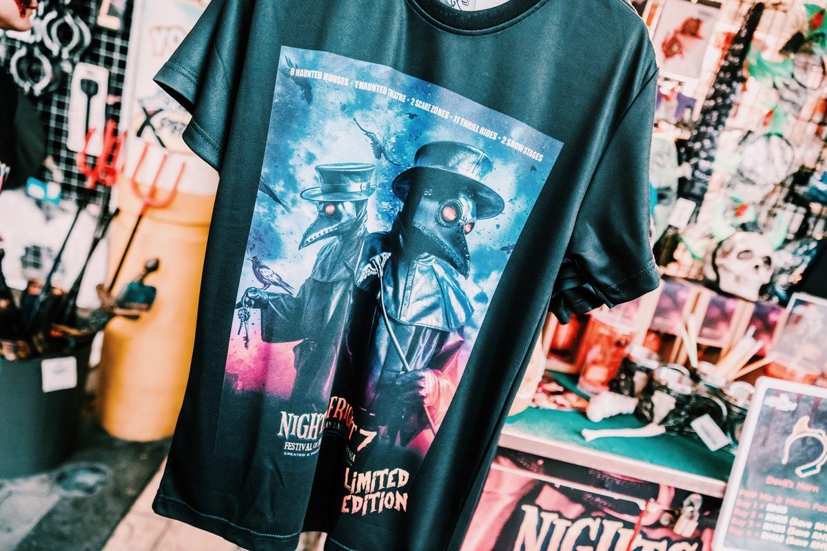 Sunway Lagoon Malaysia Nights of Fright 7 Pre Opening Stuff Merchandise NOF7 T Shirt