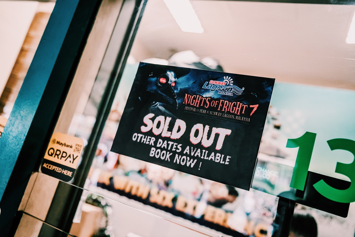 Sunway Lagoon Malaysia Nights of Fright 7 Pre Opening Stuff Tickets Sold Out