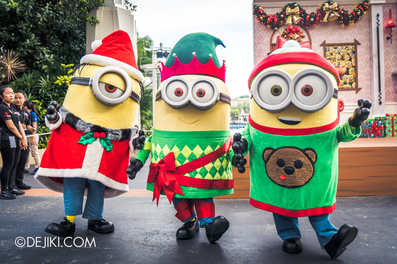 Universal Studios Singapore A Universal Christmas 2019 event Despicable Me Family Christmas Elf Minions