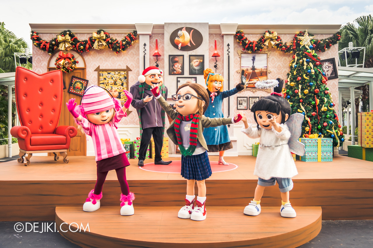 Universal Studios Singapore A Universal Christmas 2019 event Despicable Me Family Christmas Gru Lucy Margo Edith Agnes tier