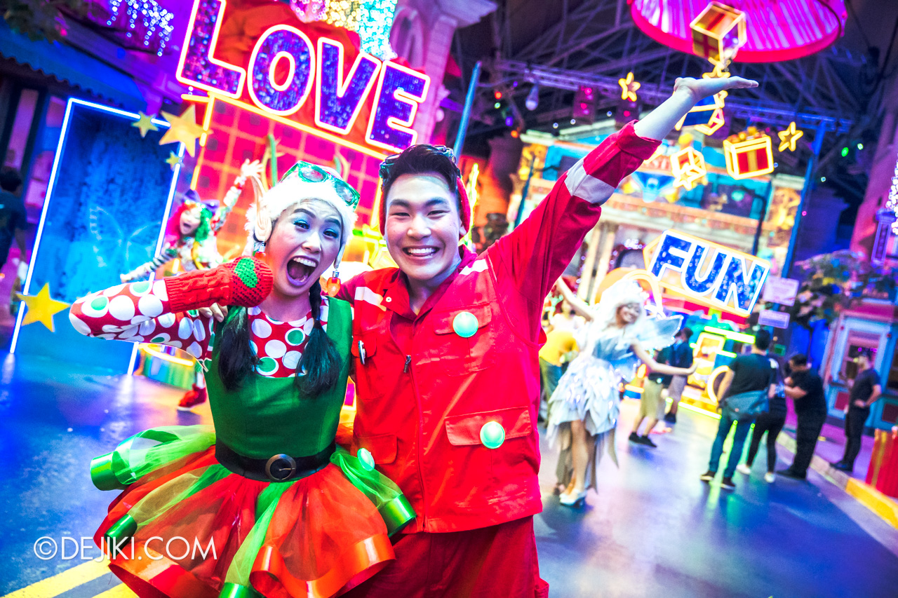 Universal Studios Singapore A Universal Christmas 2019 event Modern Christmas at New York zone characters 6