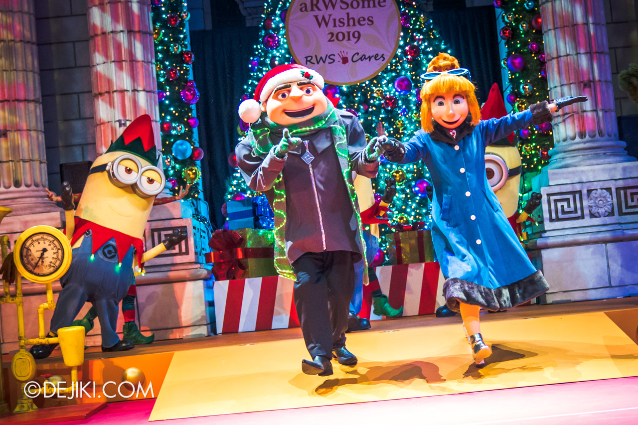 Universal Studios Singapore A Universal Christmas 2019 event The Great Christmas Invention 13 finale meet and greet with gru and lucy