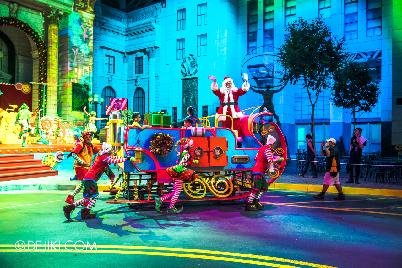 Universal Studios Singapore A Universal Christmas 2019 event The Great Christmas Invention 4 santa sleigh arrives