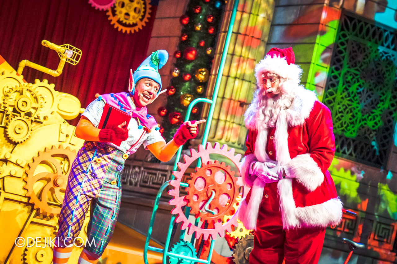 Universal Studios Singapore A Universal Christmas 2019 event The Great Christmas Invention 5 bailey and santa