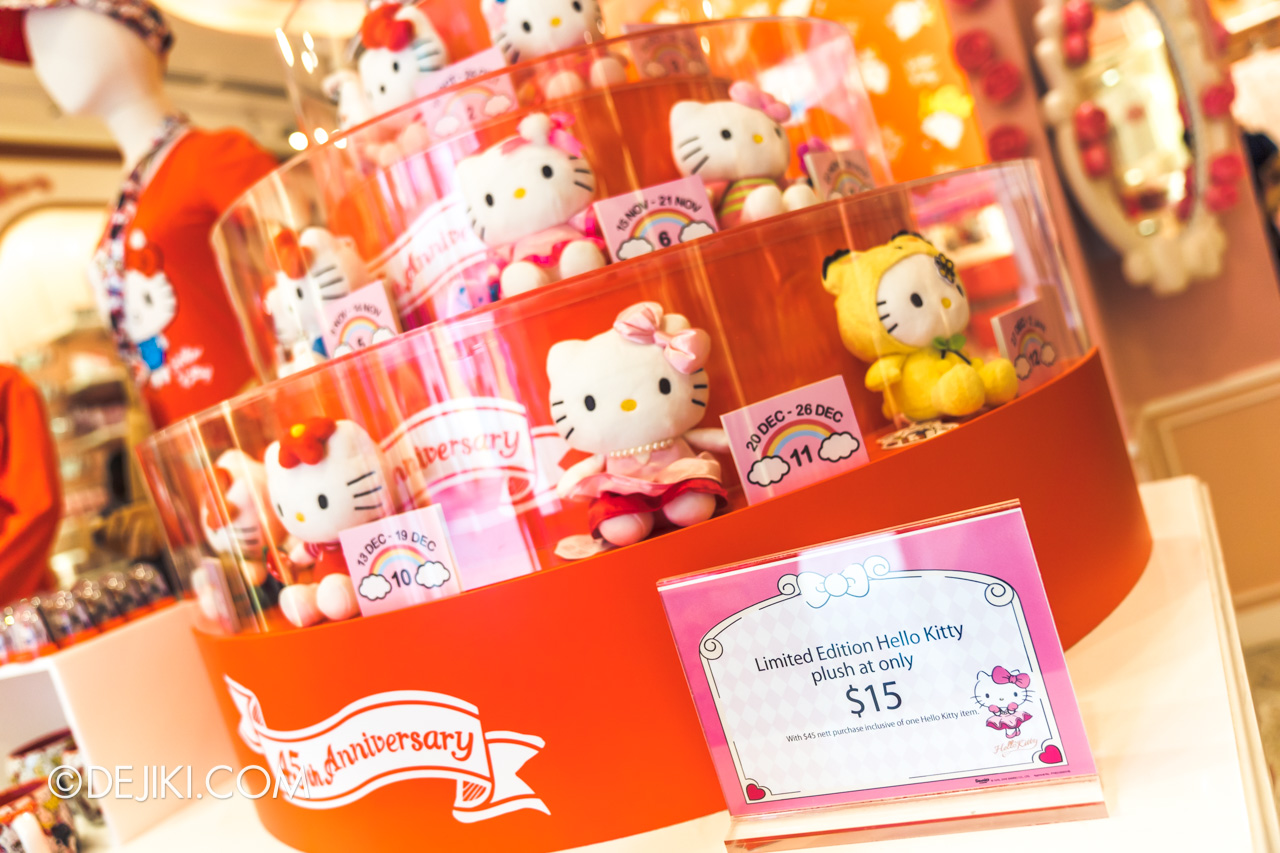 Universal Studios Singapore Park Update Nov 2019 Park Merchandise Hello Kitty 45 Anniversary Limited Edition toy range