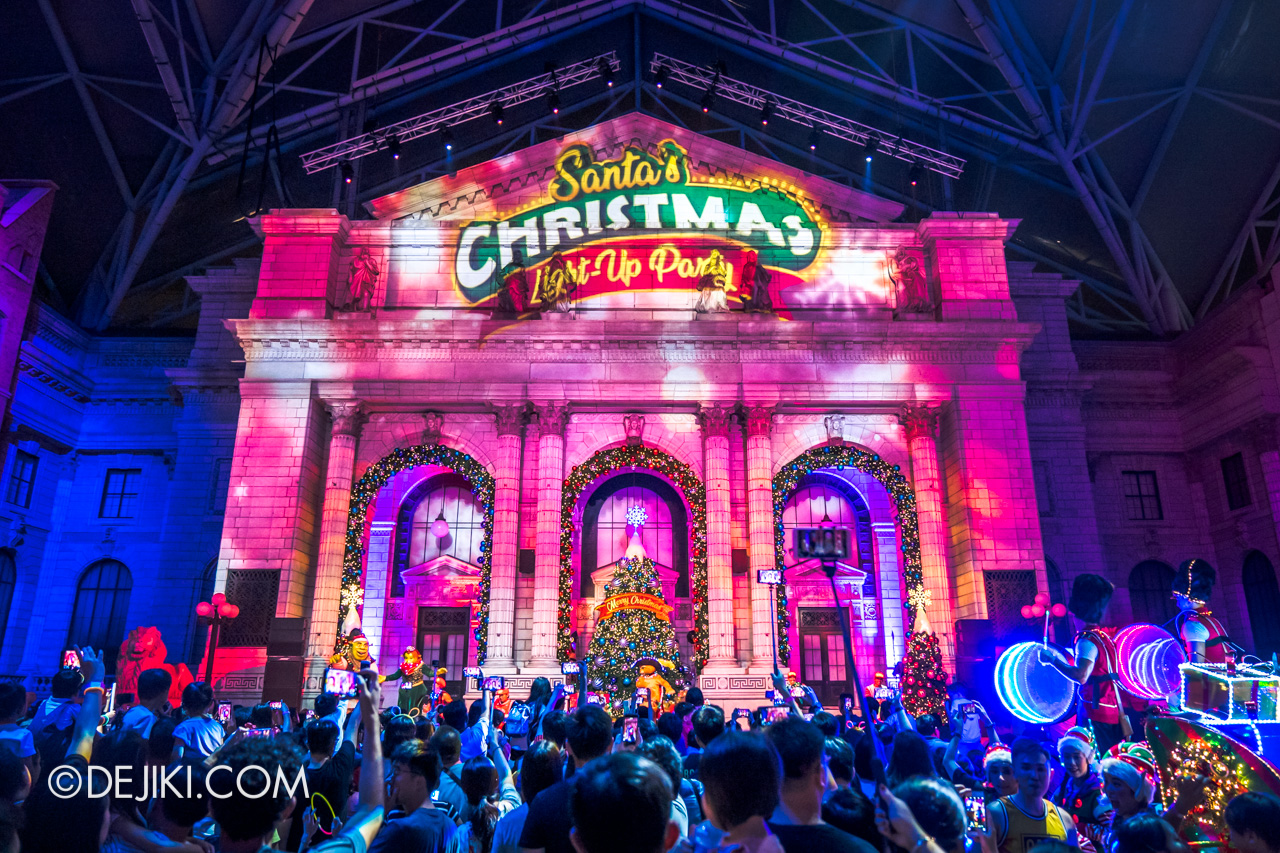 Universal Studios Singapore Park Update November 2019 2018 Christmas New York Library Projections