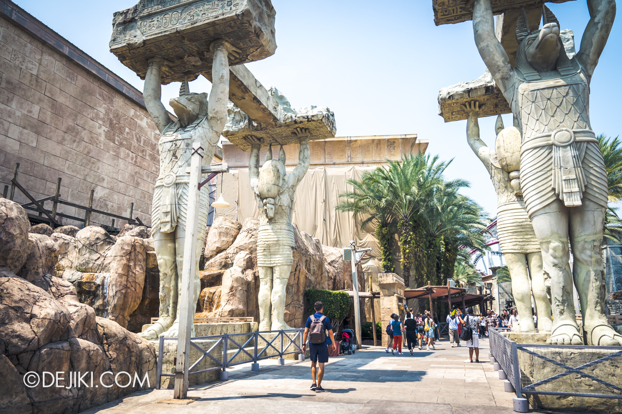 Universal Studios Singapore Park Update November 2019 Attractions News Revenge of the Mummy facade repair works 1