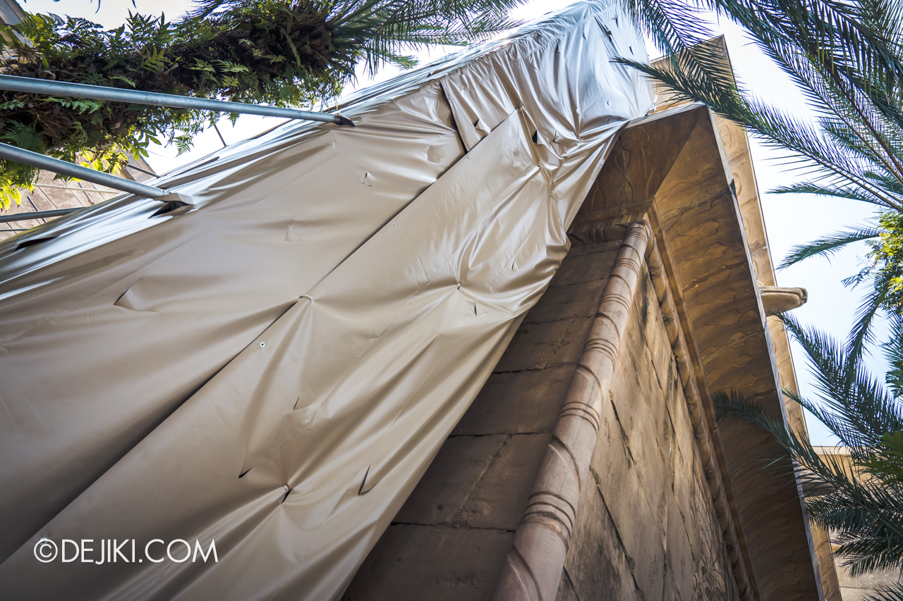 Universal Studios Singapore Park Update November 2019 Attractions News Revenge of the Mummy facade repair works 3