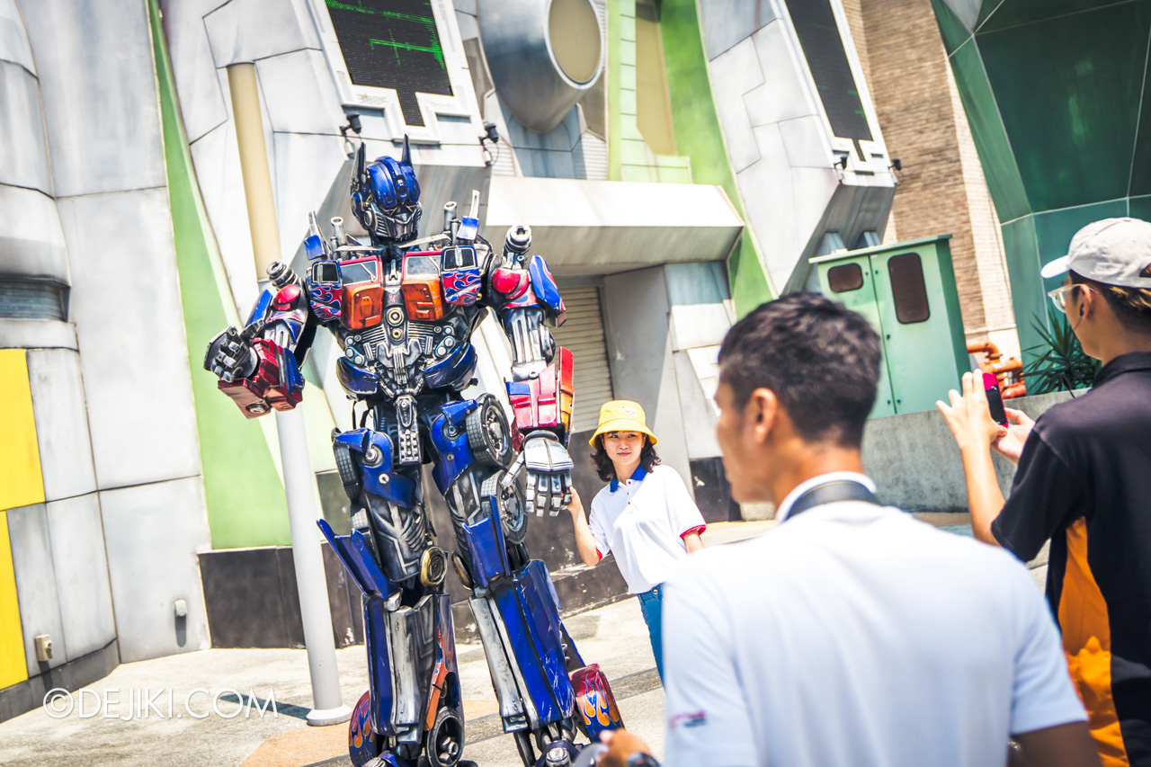 Universal Studios Singapore Park Update November 2019 Attractions News Transformers new Meet and Greet replacing existing site