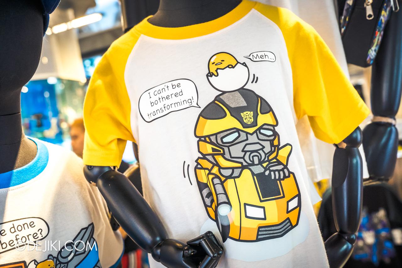 Universal Studios Singapore Park Update November 2019 Park Merchandise Transformers Supply Vault Gudetama shirt 1