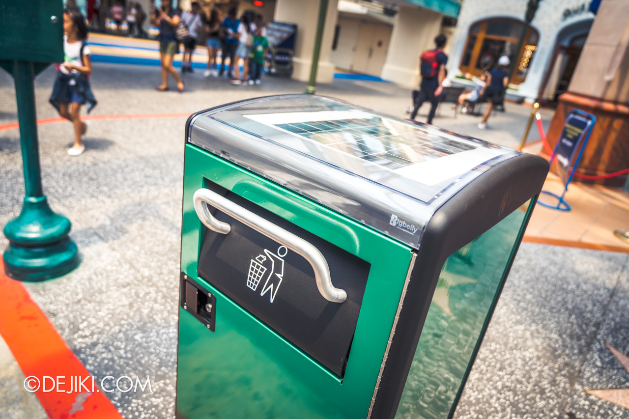 Universal Studios Singapore Park Update November 2019 Photos around USS Bigbelly Smart Recycling Bin