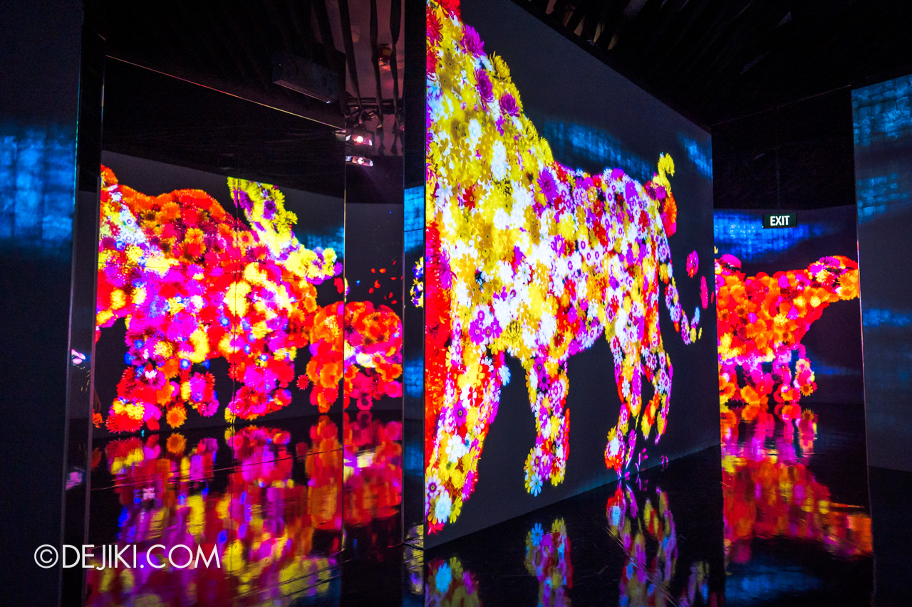 Gardens by the Bay 2020 Future Together by Teamlab Japan Indoor exhibit Animals of Flowers Symbiotic Lives 3