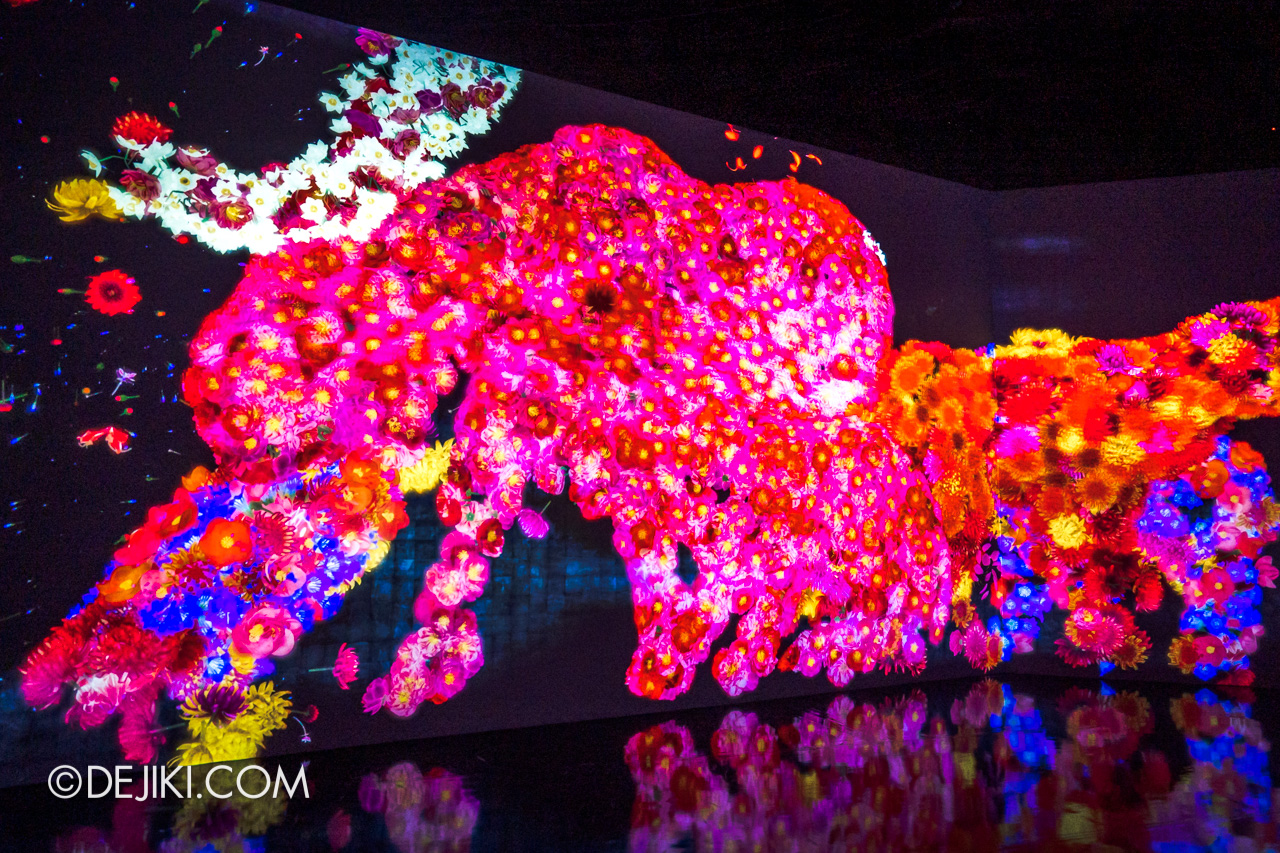 Gardens by the Bay 2020 Future Together by Teamlab Japan Indoor exhibit Animals of Flowers Symbiotic Lives 4