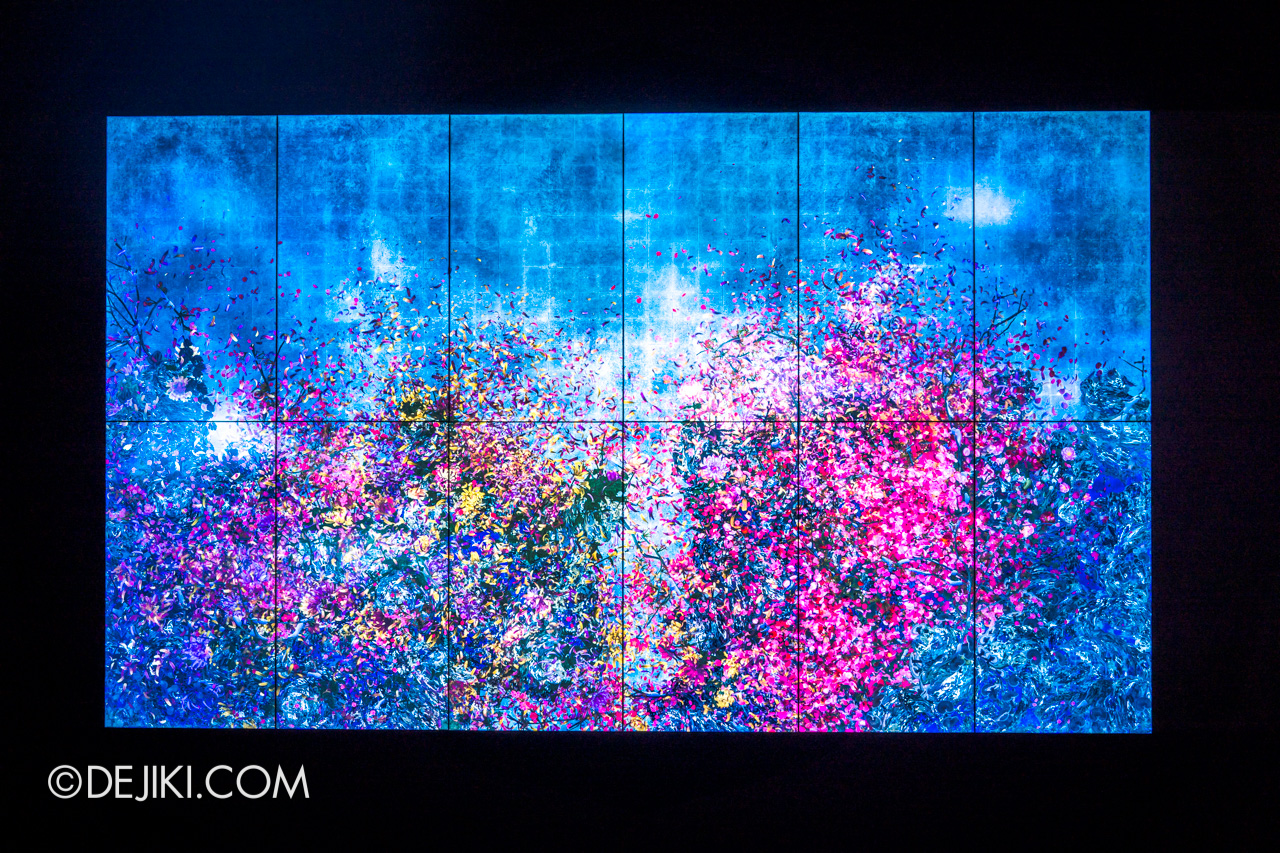 Gardens by the Bay 2020 Future Together by Teamlab Japan Indoor exhibit Continuous Life and Death at the Now of Eternity II
