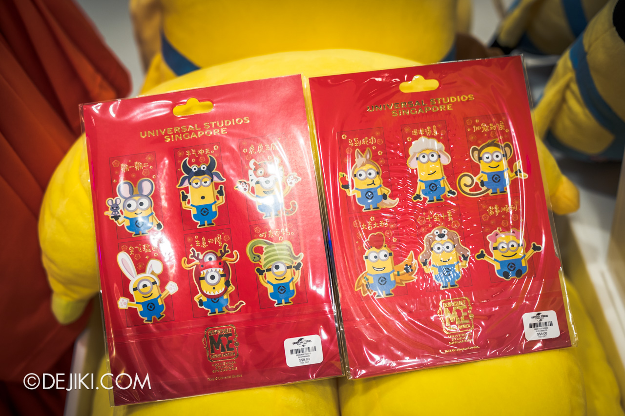 Universal Studios Singapore Chinese New Year 2020 Minions Zodiac red packets design