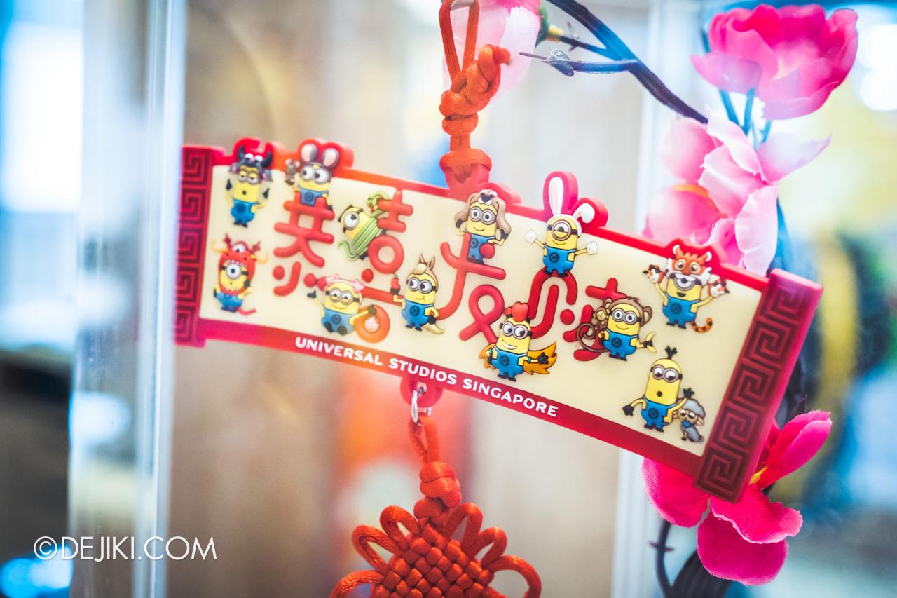 Universal Studios Singapore Chinese New Year 2020 Minions Zodiac tassel magnet