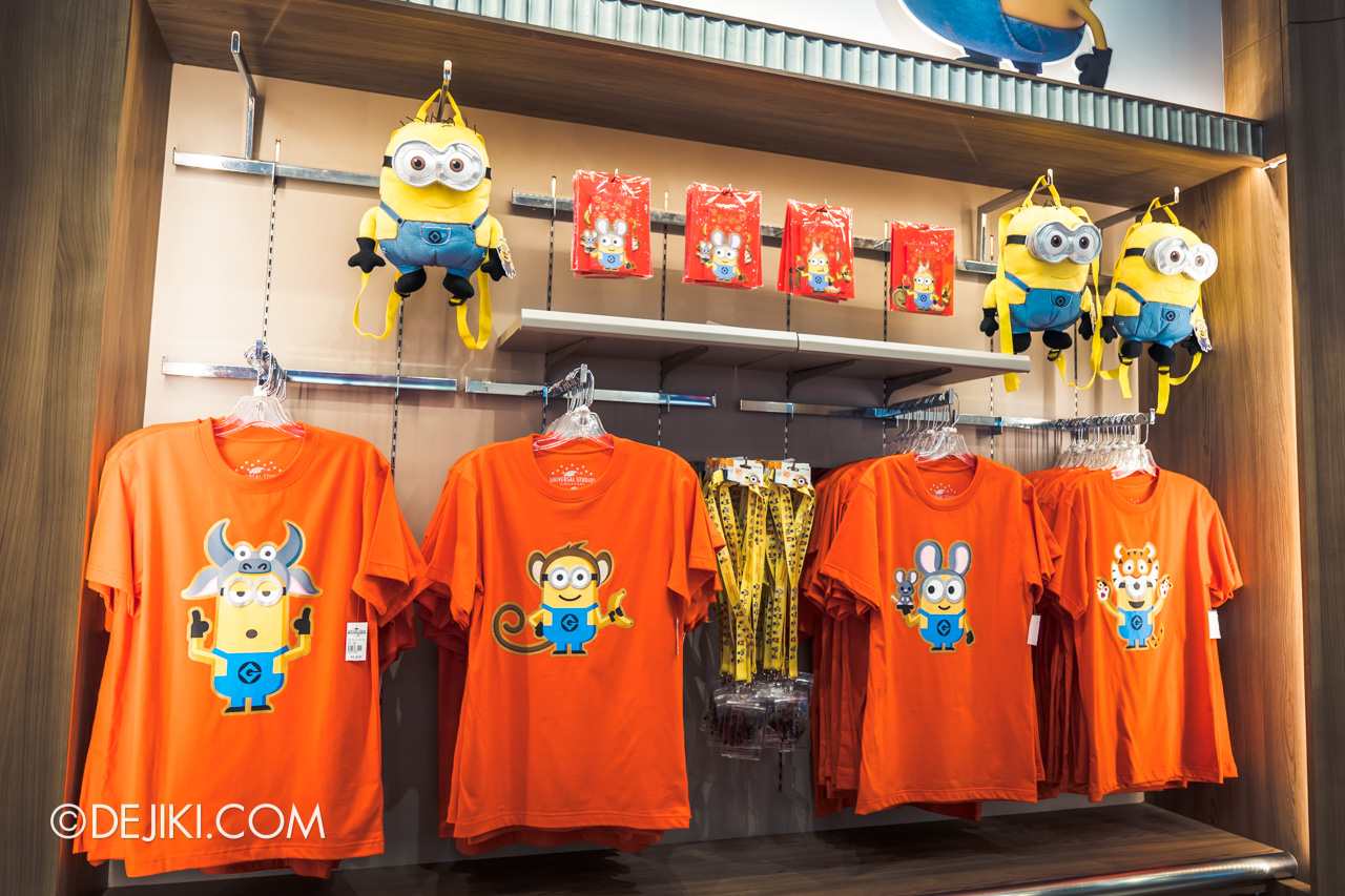 Universal Studios Singapore Chinese New Year 2020 new merchandise Minions Zodiac Tees adults