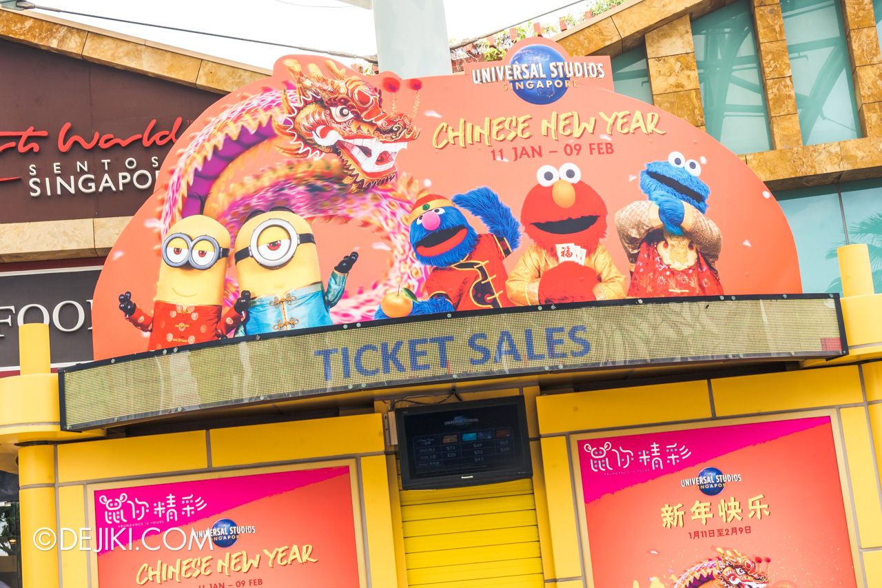 Universal Studios Singapore January 2020 Park Ticket price increase