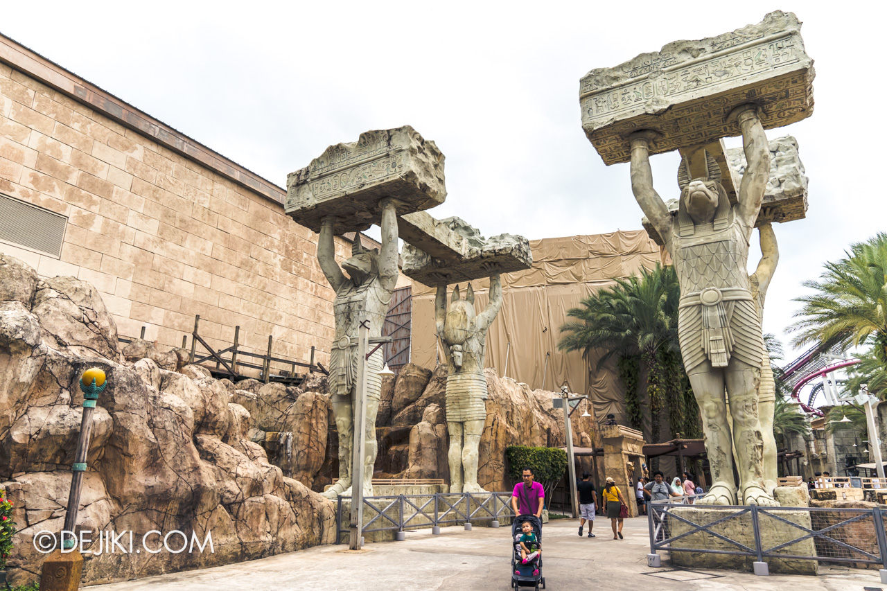 Universal Studios Singapore January 2020 Park update Ancient Egypt refurbishments and repairs 3