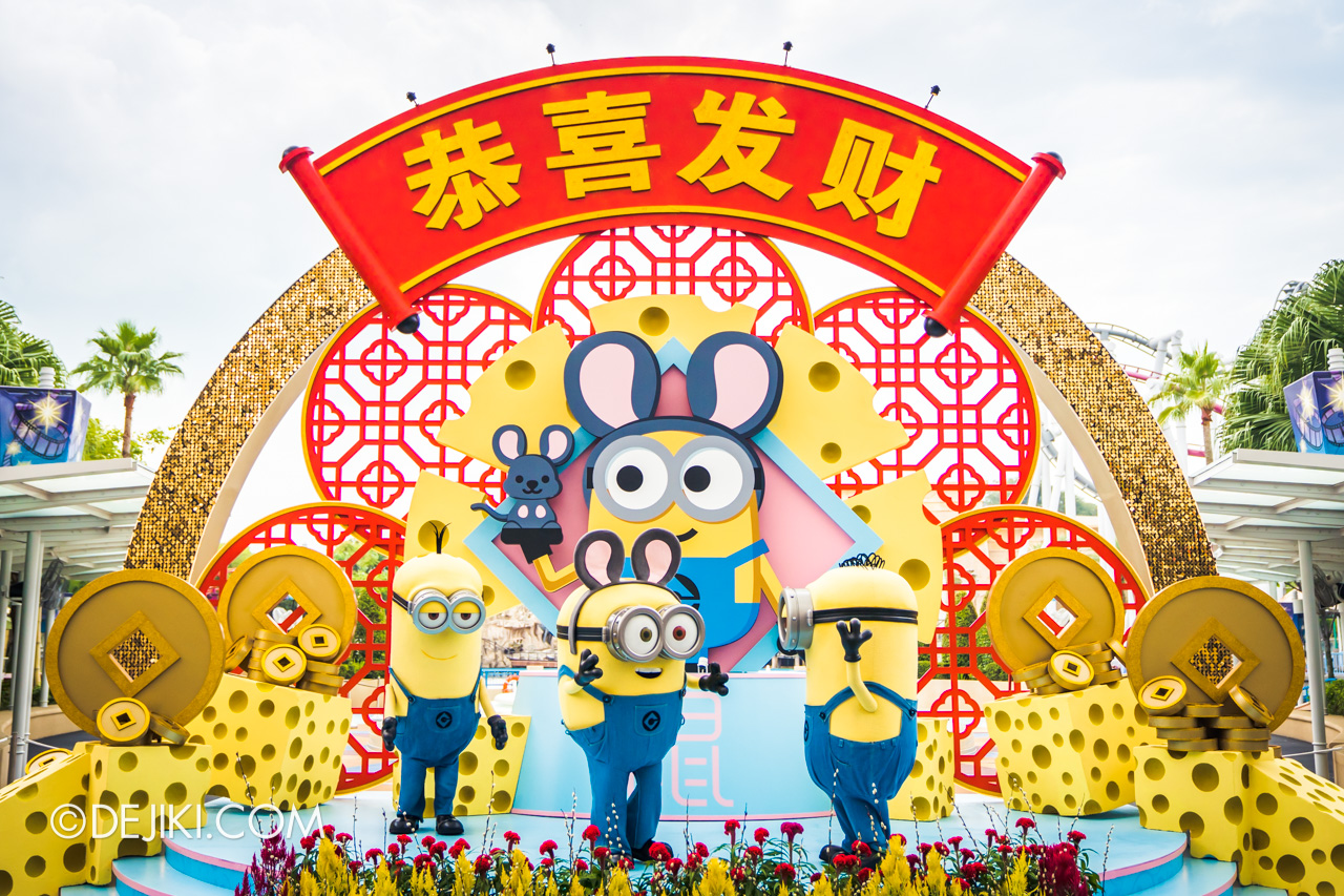 Universal Studios Singapore January 2020 Park update Chinese New Year Minions MNG