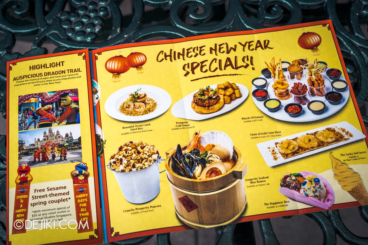 Universal Studios Singapore January 2020 Park update simple Chinese New Year special food