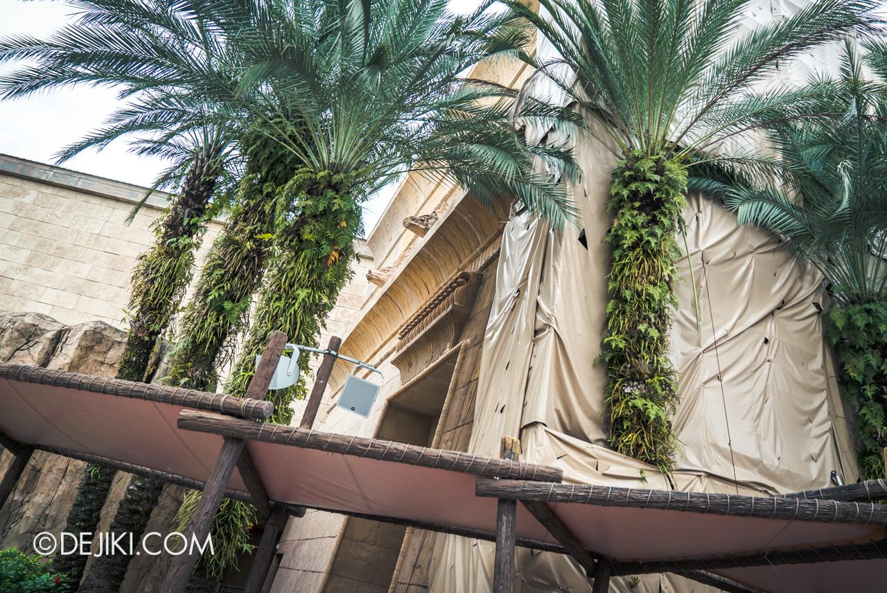 Universal Studios Singapore Park Update Feb 2020 Ancient Egypt Revenge of the Mummy temple building refurbishment 4
