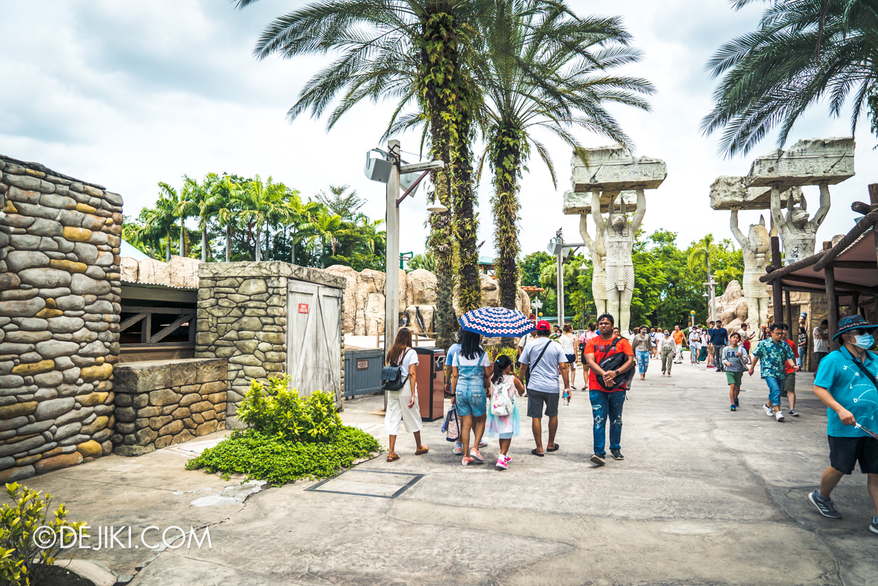 Universal Studios Singapore Park Update Feb 2020 Ancient Egypt barrier free Treasure Hunters fence removed