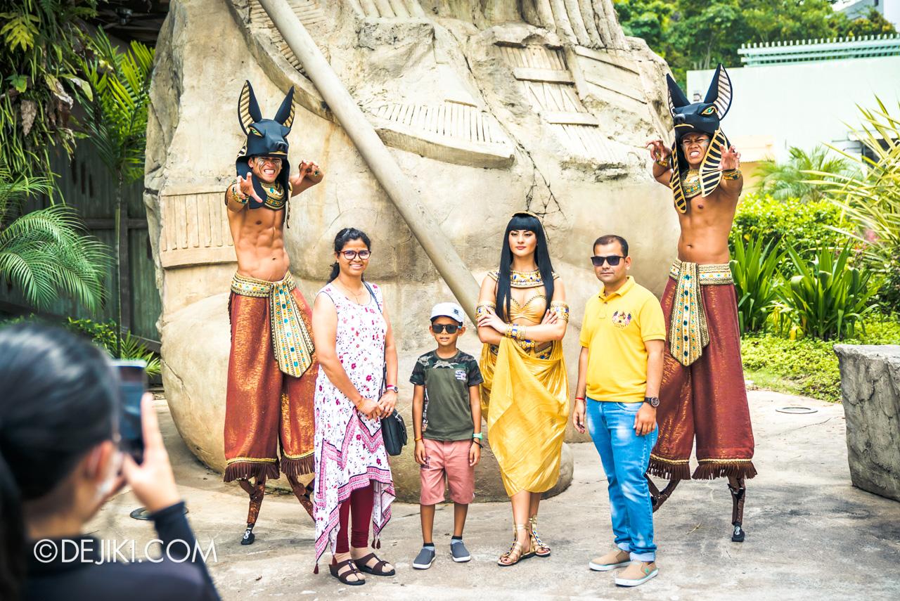 Universal Studios Singapore Park Update Feb 2020 Meet and Greet Ancient Egypt Nile Princess Anubis Stilts