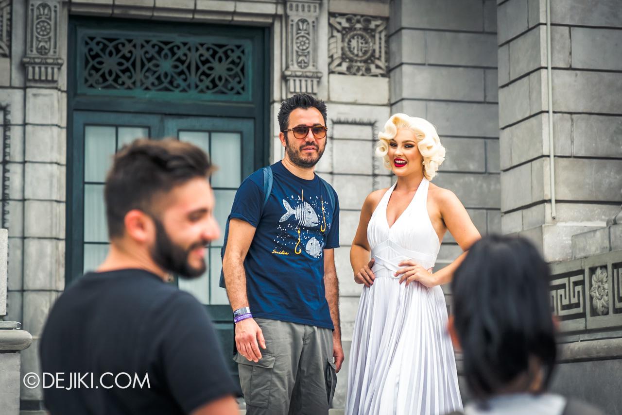 Universal Studios Singapore Park Update Feb 2020 Meet and Greet Marilyn Monroe