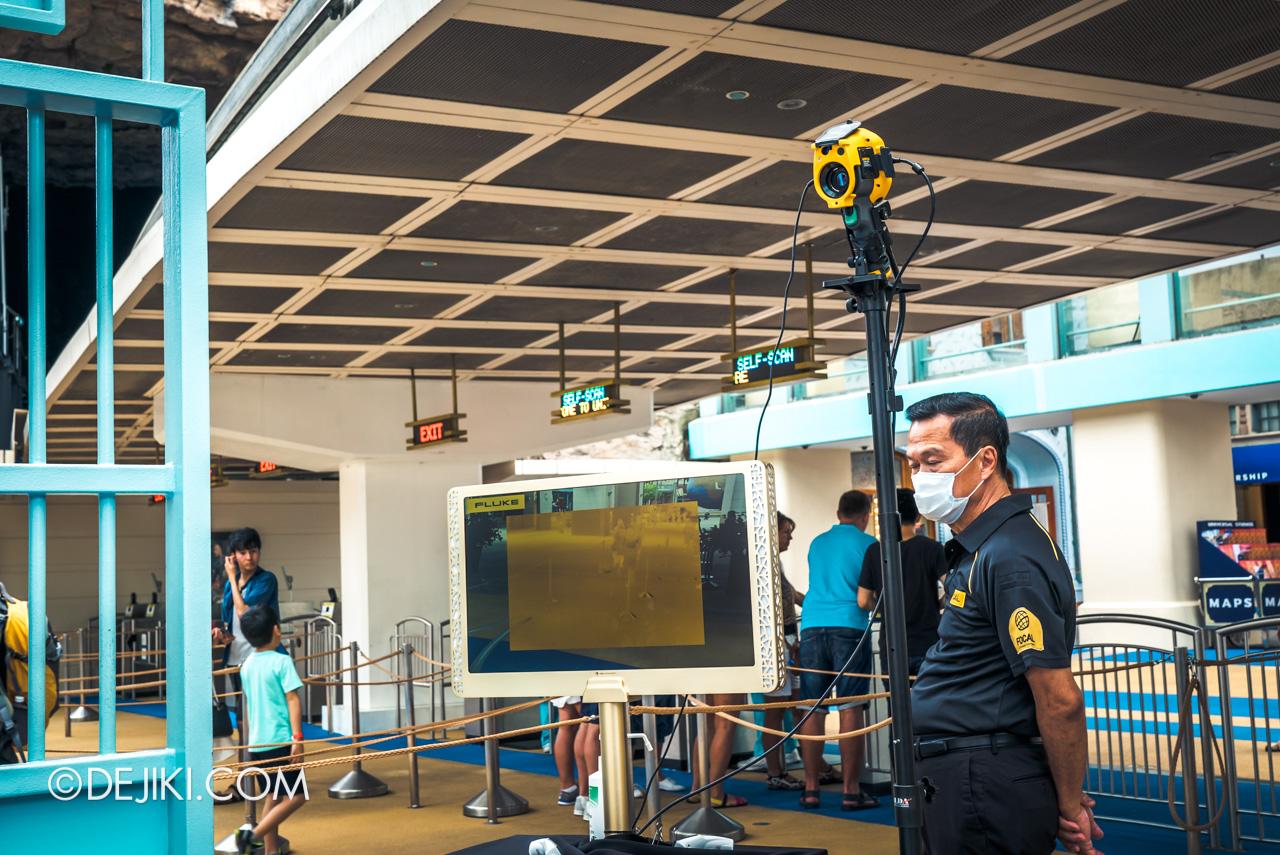 Universal Studios Singapore Park Update Feb 2020 Temperature screening at Park entrance