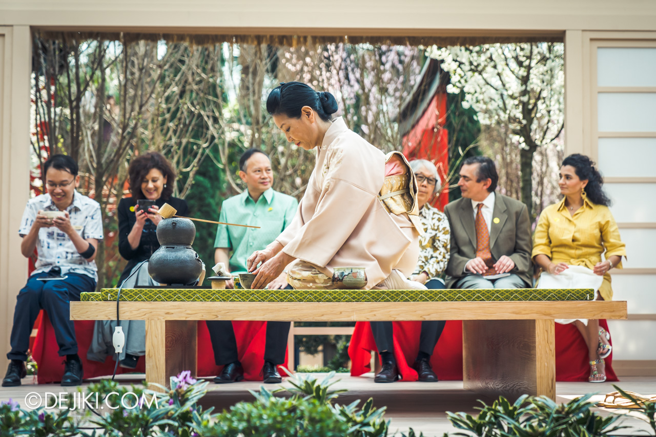 Gardens by the Bay Sakura Matsuri 2020 Flower Field stage Tea Ceremony 2