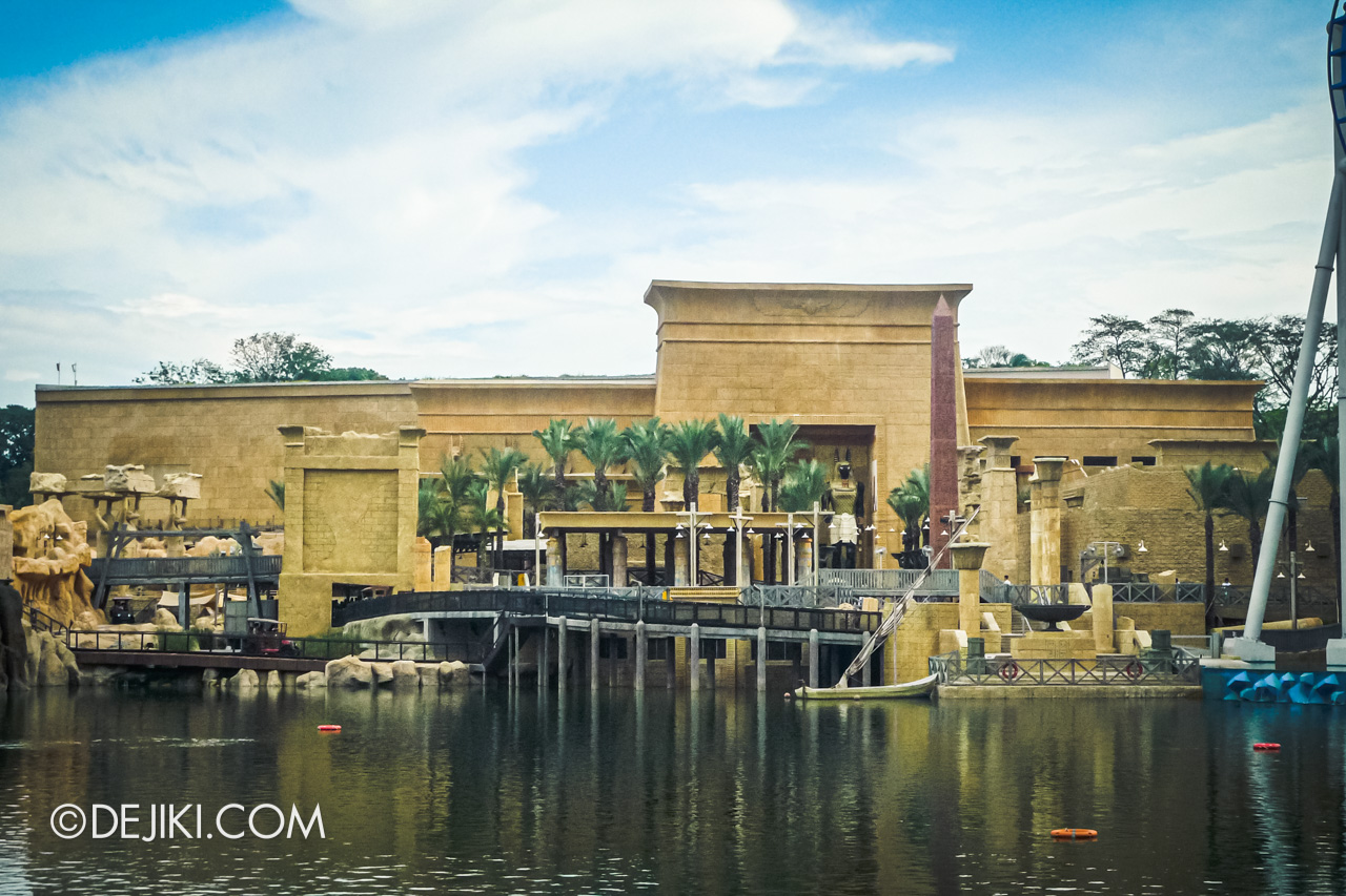 Universal Studios Singapore 10th Anniversary Flashback Ancient Egypt in 2010 lagoon