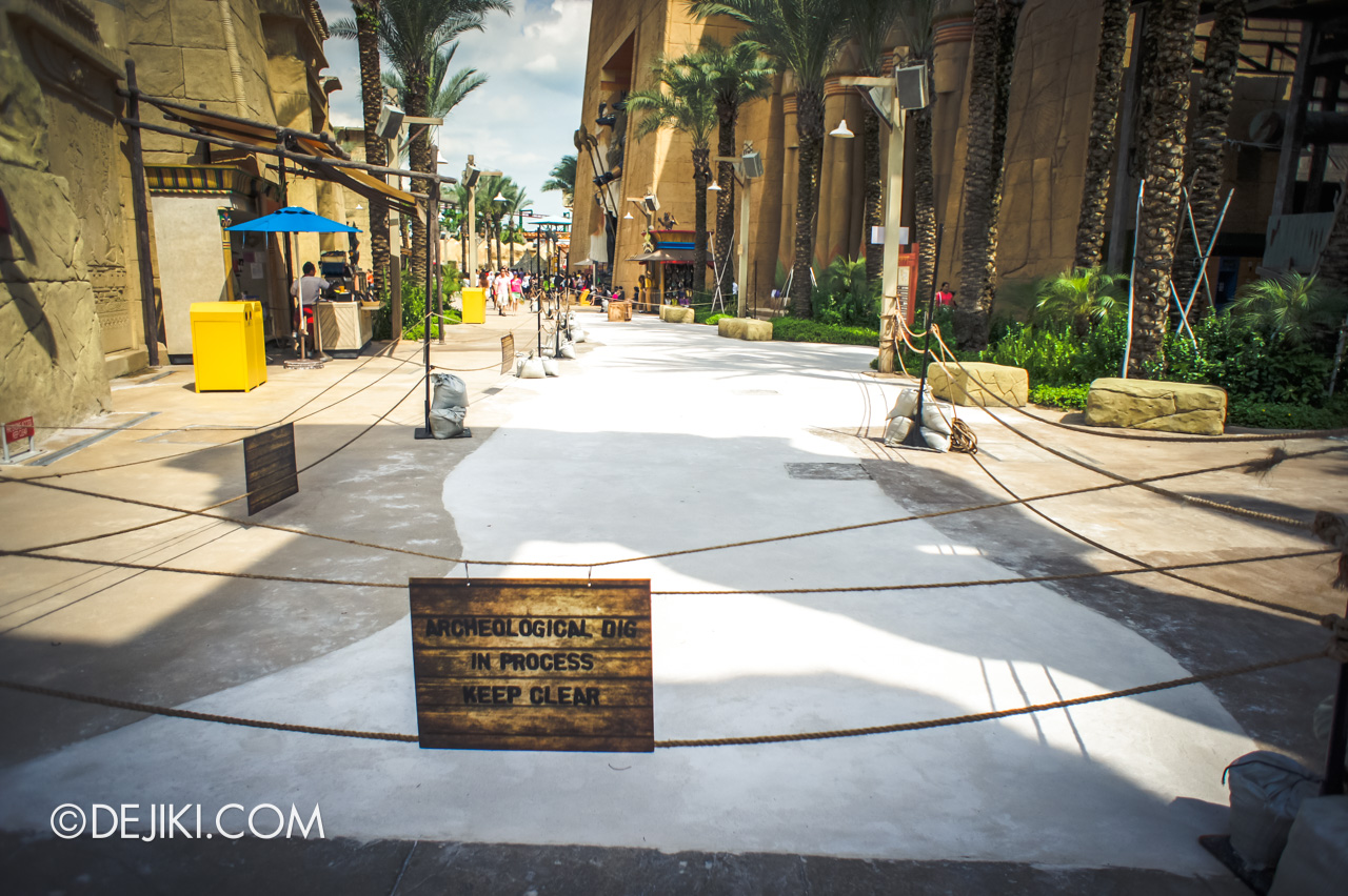 Universal Studios Singapore 10th Anniversary Flashback Ancient Egypt street renovations