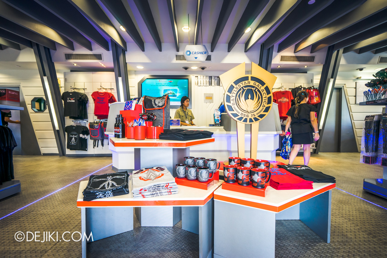 Universal Studios Singapore 10th Anniversary Flashback Battlestar Galactica Galactica PX retail store