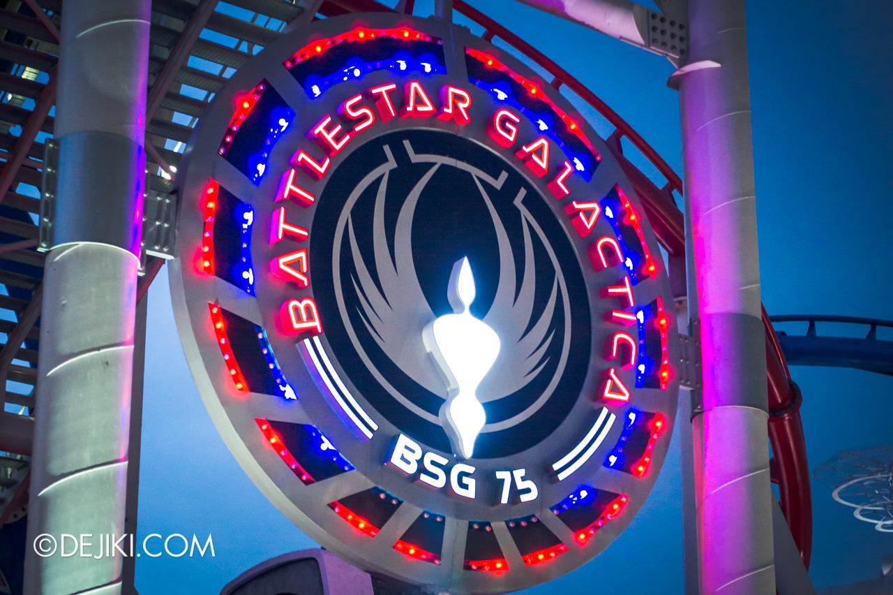 Universal Studios Singapore 10th Anniversary Flashback Battlestar Galactica sign original