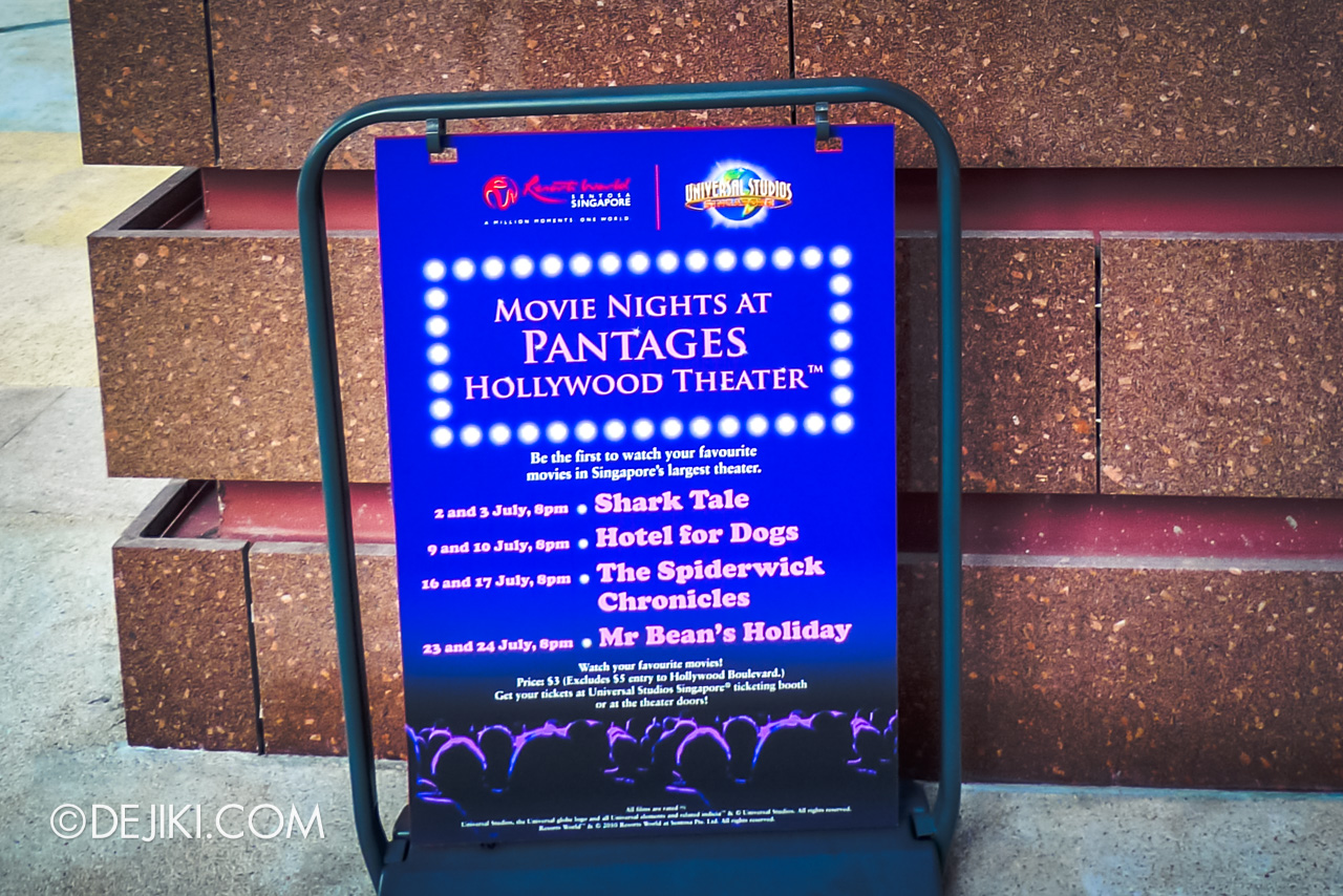 Universal Studios Singapore 10th Anniversary Flashback Hollywood 2010 Movie Nights at Pantages