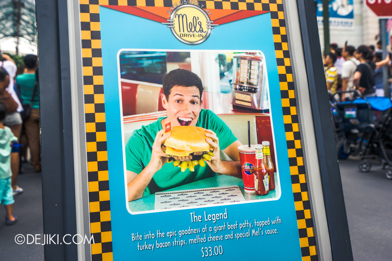 Universal Studios Singapore 10th Anniversary Flashback Hollywood Legend Burger in 2015